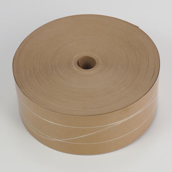 Nassklebestreifen 1/75 M braun 3 Verstärkungsfäden Viskose 70mm x 200m